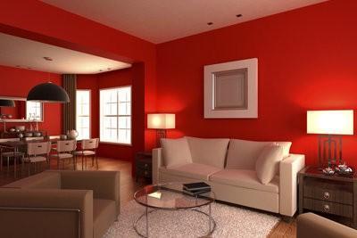 de muur kleur rood vakkundig, Meubels Ideeën