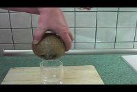 Verwijder kokosnoot vlees