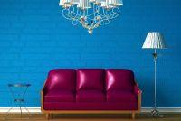 Wand design met kleur - zodat je een blues