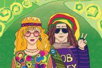 Flower power kleding - zodat je kruid omhoog uw kleding in hippie stijl op