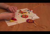 Tinker Pasen decoraties gemaakt van hout