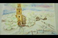 Waterverf schilderen door de winter - zodat je foto's met sneeuw te slagen
