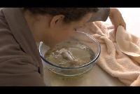 Kamille stoom tegen puistjes - zodat je het goed te krijgen