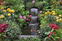Maak vijver met een waterval in de tuin - hoe het werkt