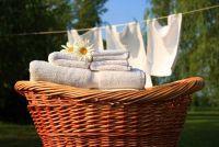 Katoen heeft grijze waas - dus het wasgoed weer helder wit