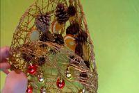 Tinker Fensterdeko at Christmas - dus we gaan met dennenappels