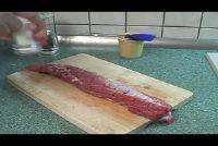 Varkenshaas in aluminiumfolie en kok - een recept