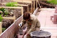 Tuinmuren - gemaakt van beton, het gaat als volgt