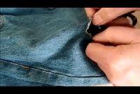 Gaten jeans maken zelf - drie instructies