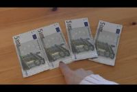 Bankbiljetten vouw - een klaver slagen dus