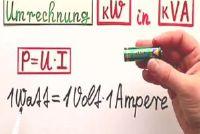 Conversie in kW kVA - hoe het moet