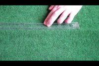 Rimpels glad te strijken in het tapijt - hoe het werkt