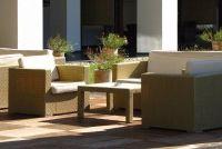 Geeft een terras - zodat u de kosten van materialen kan berekenen