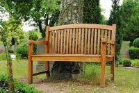 Maak de tuinbank met hout behoud glazuur weerbestendig