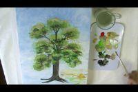 Bomen schilderen - met acrylverf je slagen zo