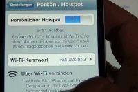 Maak verbinding met het internet met de laptop op de iPhone