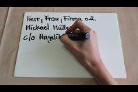 C / o gebruiken het goed in het adres - zodat je brief aankomt veilig