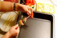 Voorbereiding shashlik in oven