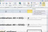 Plaats een gemiddelde personage in Excel - dus slaagt's