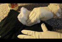 Verwijder verf van kleding