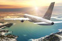 Contactlenzen draagt op het vliegtuig - dus er zijn geen problemen