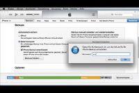 ITunes Backup password - wat te doen?