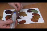 Herbstdekoration tinker van bladeren - dus slaagt's