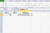 In Excel berekent een verschil - is hoe het werkt