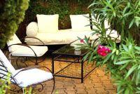 Gebruik patio planten schermen