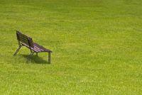 Tuinbank gemaakt van prefab platen - Simple Plan