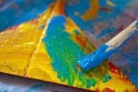 Gebruik in geslaagd schilderen Abtönfarbe