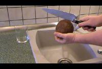 Hoe maak ik een kokosnoot openen?