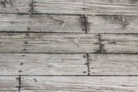 Terras platen gemaakt van hout - verzorgingstips