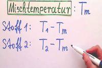 Bereken het mengen van temperatuur van verschillende stoffen - hoe het werkt