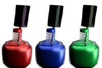 Gekleurde Franse nagels - dus je kon maken