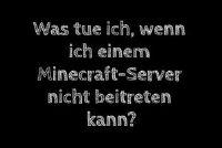 Minecraft-server aan te sluiten is niet - nuttige tips
