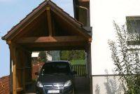 Bouwen carport bij een huis wand - opmerkelijk