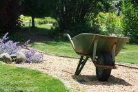 Decoratieve grind in de tuin - die wordt waargenomen