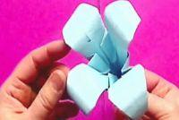 Origami vouwen instructies voor de bloemen - waterlelie en lelie slagen zo