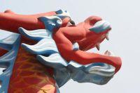 Chinese draak - het schilderen van foto's in de Aziatische stijl zich met succes als