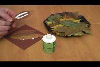 Tinker Herbstdekoration met kastanjes voor de tafel - Manual