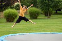 Build tuin trampoline