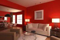 Gebruik de muur kleur rood vakkundig