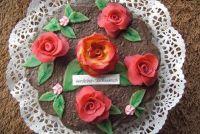 """Maak een taart decoraties gemaakt van marsepein mezelf - """"Heel veel lieveheersbeestjes"""""""