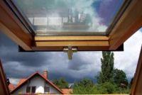 Maak gordijnen voor schuine dak zelf - hoe het werkt
