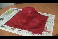 Hoe een vulkaan gemaakt van karton te bouwen?  - Bastelanleitung