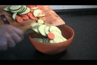 Raw courgette in de salade - een recept