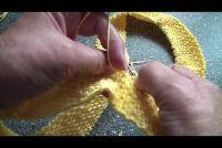 Breien Aanwijzingen voor een lus sjaal - hij slaagt in mos