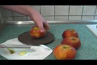 Gebakken appel zonder marsepein te bereiden - een recept