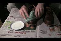 Leren schoenen gepolijst - dus het zal werken met de schoonmaak